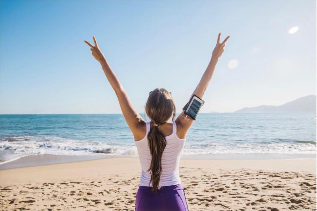 Running on the beach rejuvenates your senses
