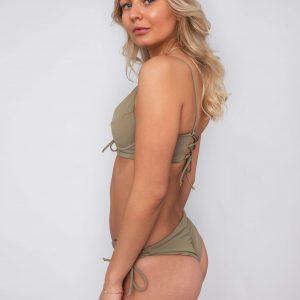 Product image: Ananya Bikini set olive side