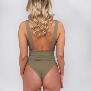 Product image: Malika One-piece Olive back