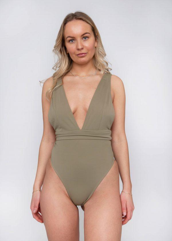 Product image: Malika One-piece Olive Front